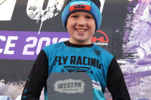 2019 Weston Beach Race 85cc - Small Wheel Winner Graham Haddow